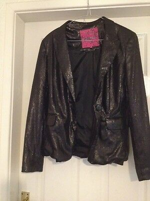 Sequin Girls Jacket Party Disco Prom Age 14-15 generation 915  Black Not Worn
