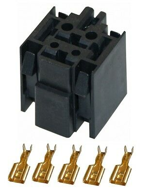 STANDARD (mini) Relay BASE for 4 or 5 pin relays - Supplied with Terminals