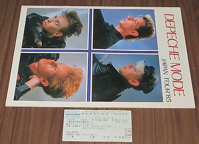 With TICKET! Depeche Mode JAPAN 1985 tour book MARTIN GORE DAVE GAHAN more liste