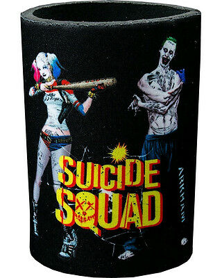 Suicide Squad The Joker & Harley Quinn Neoprene Can Cooler Drink Collectible