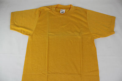 Vintage, NOS Deadstock Athtex Blank T-Shirt, Yellow, USA, S, Thin