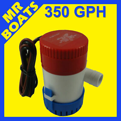 350 GPH SUBMERSIBLE BOAT BILGE WATER PUMP 12V Outlet 3/4' 20mm 350GPH FREE POST