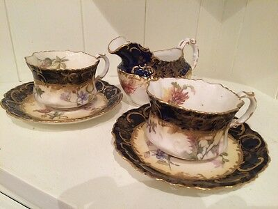 Antique 19th century Hammersley & Co Demitasse Coffee Set