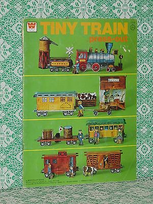 Whitman MCMLXXV 1975 Tiny Train Press Out Paper Doll Toy Book UNCUT!