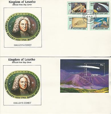 Lesotho 1986 Appearance of Halley's Comet FDC