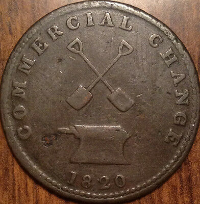 1820 Upper Canada Half Penny Token Sloop Commercial Change Splendid High Grade