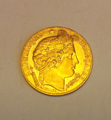 1896 Gold 10 Francs.  Third French Republic. Excellent Condition.