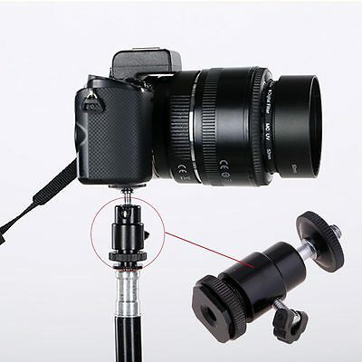 "NEW 1/4"" Tripod Screw To Hot Shoe Adapter Mount for Canon Nikon Sony DSLR Camera"