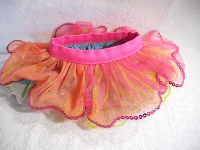 Build a Bear Clothes - Reversible Rainbow Tutu Skirt with Sequins