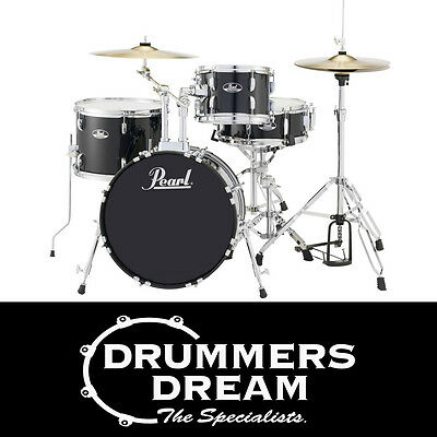 BRAND NEW Pearl Roadshow Gig ready 4 pce Drum Kit Jet Black Finish ON SALE