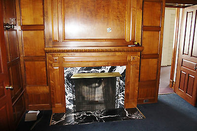 Antique Victorian Paneled Room W. Fireplace - Salvage- Nice!!