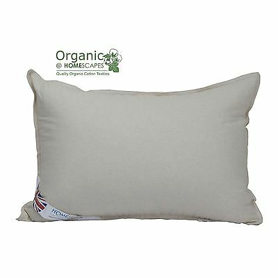 Organic Cotton Pillow with Luxury Microfibre Filling Good for Allergy Sufferers