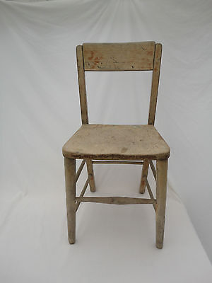 Vintage Children's Wooden School Chair E