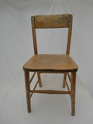 Vintage Children's Wooden School Chair D