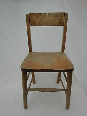 Vintage Children's Wooden School Chair B