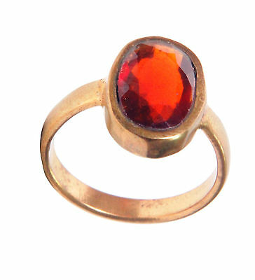 Certified Natural Beautiful A+++ Hessonite Garnet 5.25 Ratti Panchdhatu Ring