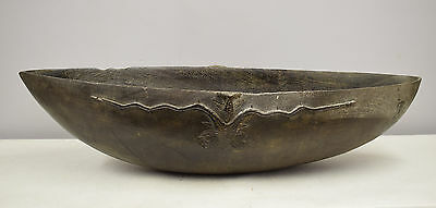 Papua New Guinea Siassi Blackened Wood Carved Ceremonial Bowl