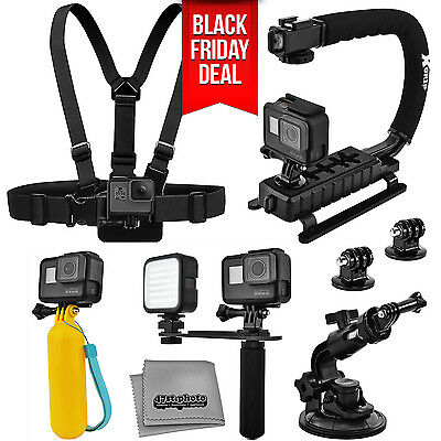 10PC Adventurer Accessories for GoPro HERO 5 4 / Session / Compatible Cameras