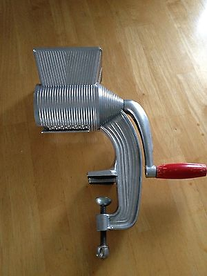 Italian Rotary Heavy Duty Parmesan Cheese Grater Table Mount