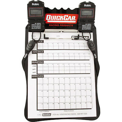QUICKCAR RACING PRODUCTS 51-052 Clipboard Timing System Black