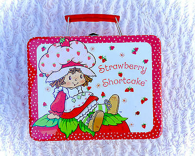 Vintage Strawberry Shortcake Metal Tin Lunch Box 2002 Reproduction Rix Retro EUC
