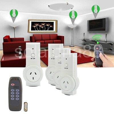 4/3/2/1XSmart Wireless Remote Socket Home Power Point Switch Control Outlet Plug