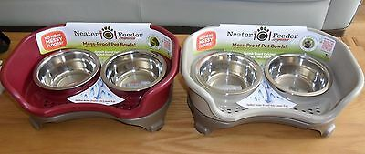 Neater Feeder Express Pet Food & Water Bowls for Small Dogs / Cats - 2 colours