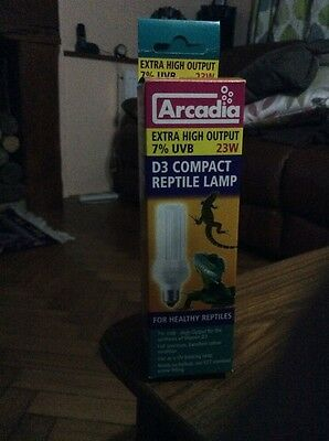 Arcadia D3 Compact Reptile Lamp 7% Uvb 23W Bulb