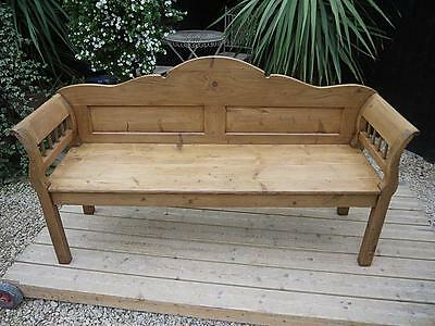 Wonderful! Old Antique Victorian/edwardian Pine Hungarian/monks Bench/settle/pew