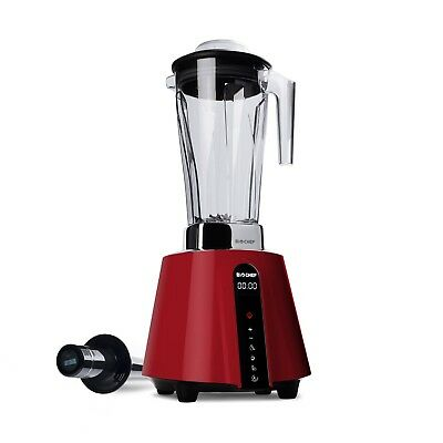 NEW BioChef Living Touch-Screen High Powered Blender - Red
