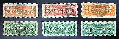 CANADA 1875 Registered Shades Used MIXED CONDITION YZ990