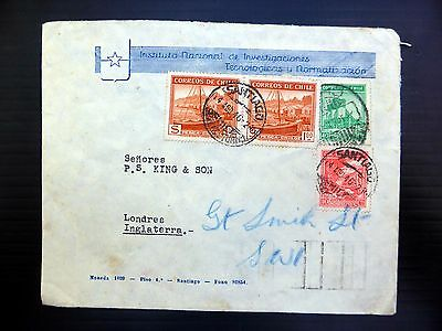 CHILE 1946 Registered Investigation Department Cover to England YZ929