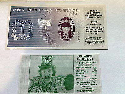 BANKNOTE signed by SCREAMING LORD SUTCH