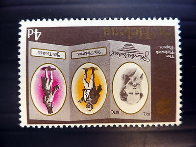 St HELENA 1970 Dickens 4d Sideways Inverted/WMK & Gold Dry Print YZ137