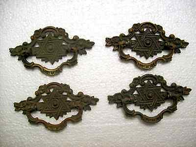 Star Of David Antique Drawer Pulls, Brass