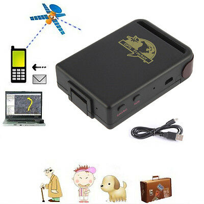 Mini Realtime Car Waterproof Spy GPS System Tracker TK102B+1X Battery+USB Cable