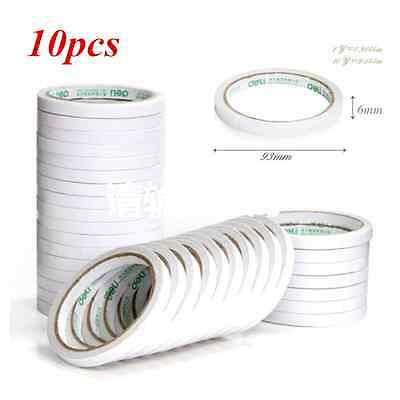 10 Rolls  Double Sided Super Strong Adhesive Tape for Craft Brand 6mm