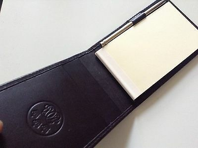 Coutts Credit Card Holder Note Pad With Pen Genuine Leather Sealed New