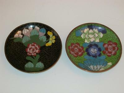 2 Antique Chinese Cloisonne Pin Dishes
