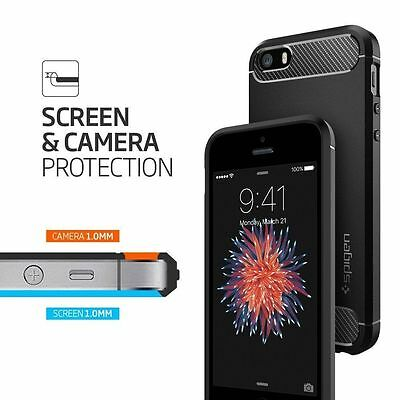 Coque IPhone SE/5S/5 SPIGEN rugged armor case-noir protection ganrantie