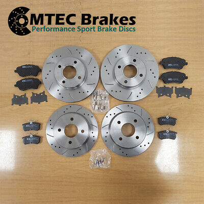 Ford Fiesta ST180 2012- Drilled Grooved Front & Rear Brake Discs & Pads