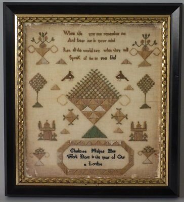Antique Sampler, 1834, by Charlotte Malpas