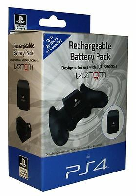 Official PlayStation 4 Licensed PS4 Controller Rechargeable Battery Pack & Cable