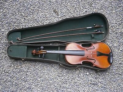 Antique Vintage Russian Violin Musical Instrument Cremona With Case