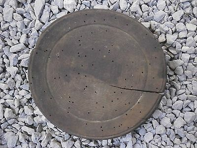 Old Rare Antique Wooden Plate With Patina