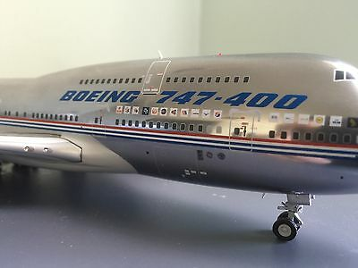 JC Wings 1:200 B747-400 House Colors Polished Diecast Model With Stand