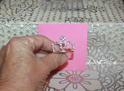 11 Inch Barbie Doll Size Real Rhinestone Metal Party Tiara Crown #5