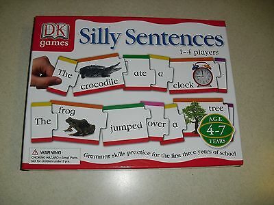 DK Games Silly Sentences Grammar Skills Practice for 1st 3 years of school age