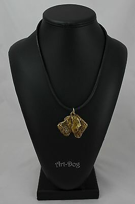 German Wirehaired Pointer GOLD necklace by ART DOG