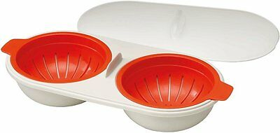 Joseph Joseph M-Cuisine Egg Poacher for 2, Orange